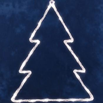 Vianočná dekorácia Stromček, 24LED, studená biela