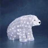Viano�n� dekor�cia vonkaj�ia, Medve� sediaci, 200 LED, studen� biela