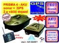 Zav�a�ia lo�ka PRISMA 4 + sonar + GPS + 2x Aku 12Ah